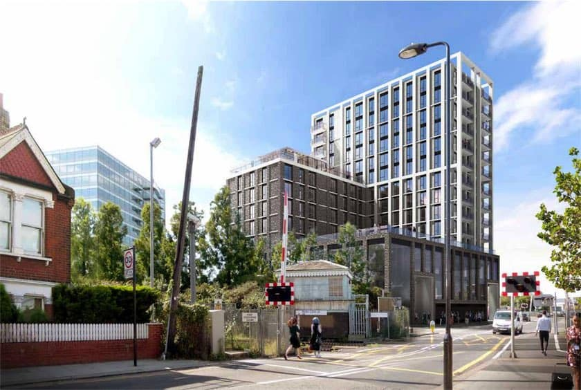 Plans in 14 storey 75 intermediate affordable building for Affordable building